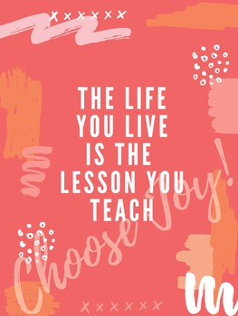 Inspirational Life Lessons Teaching Poster