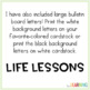Life Lessons: A Classroom Management Bulletin Board Display