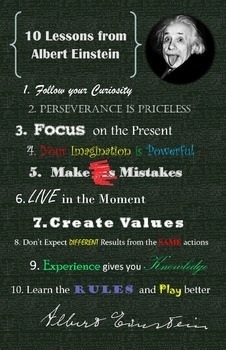 Life Lessons from Einstein Poster