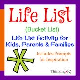 Life List (Bucket List) Activity