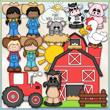 Life On The Farm - CU Clip Art & B&W Set