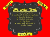 Life Over Time - Fossils - Vocabulary Cards-Science Fusion-Word Wall-Unit 7