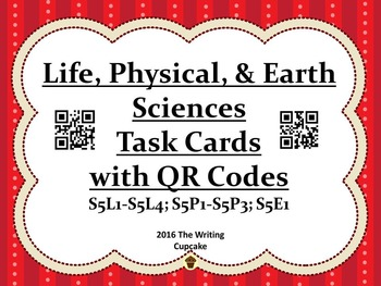 Life, Physical, and Earth Sciences Task Cards with QR Codes Bundle