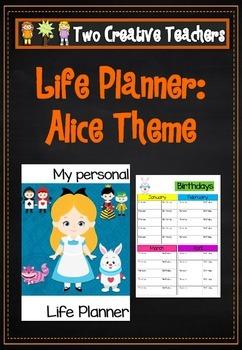 Life Planner - Alice in Wonderland Theme