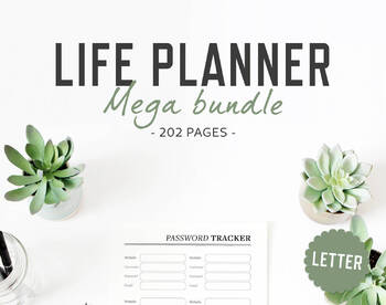 photograph regarding Printable Life Planner named Daily life Planner / Letter dimension / Existence Organizer Mega Package deal Printable