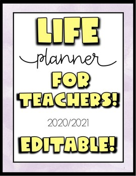 2018 & 2019 Life Planner and Journal (EDITABLE)