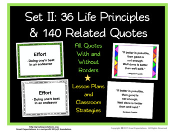 Life Principle Definition Posters and Quotes Set 2