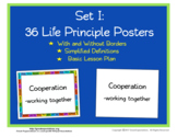 Life Principle Posters with Simplified Definitions Set 1