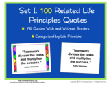 Life Principle Simplified Quote Poster Set 1