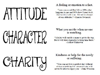 Life Principles Activity Cards