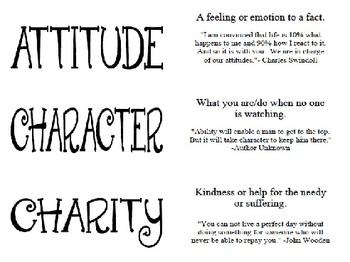Life Principles Activity Cards