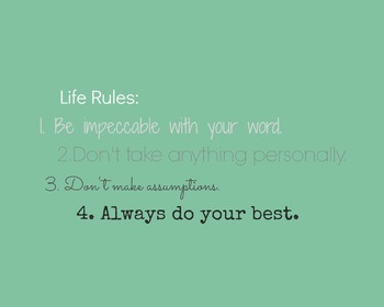 Life Rules Poster