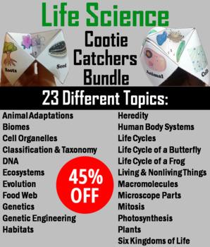 Life Science: Biomes, Habitats, Cells, Animal Adaptations Activities Bundle
