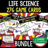 Life Science Game Cards BUNDLE - 276 Cards  (Life Science Bundle)