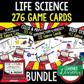 Life Science Game Cards BUNDLE - 276 Cards  (Life Science Bundle)