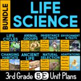 Life Science 5E Unit BUNDLE for Third Grade