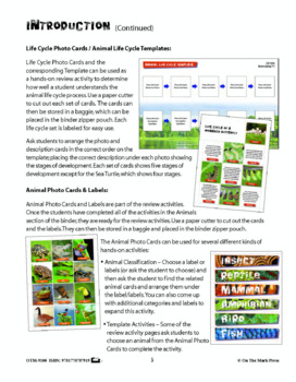 Life Science  - 60 Photo Activity Cards & Classification Labels