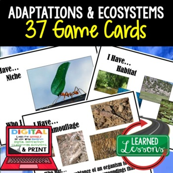 Life Science Adaptations 37 I Have Who Has Game Cards