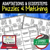 Adaptations Puzzles Digital Interactive Notebook with Goog