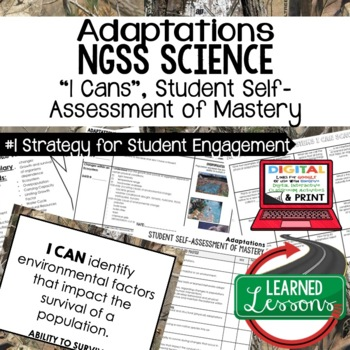 Life Science Adaptations & Ecosystems Self Assessment of Mastery I Cans
