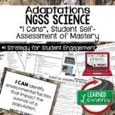 Life Science Adaptations & Ecosystems I Cans Self Assessment of Mastery