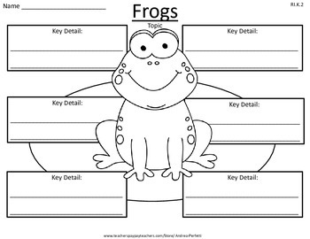 Life Science: Animals Key Detail Graphic Organizers