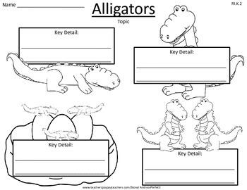 Life Science: Animals Key Details Graphic Organizers FREEBIE