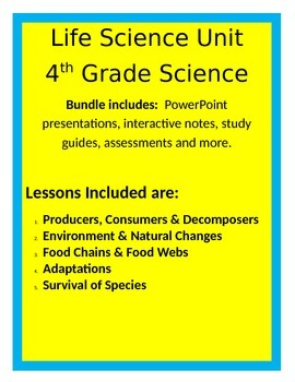 Life Science BUNDLE - 4th Grade Science