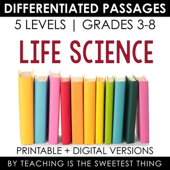 Life Science BUNDLE: Differentiated Reading Passages