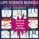 Life Science Sort and Match BUNDLE - Many Biology Topics Covered