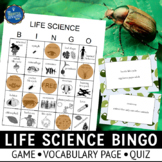 Organisms and Environments Bingo Game 4th Grade