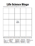 Life Science Bingo Board