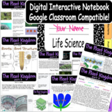 Life Science Biology Digital Interactive Notebook (The Plant Kingdom-Part 2)