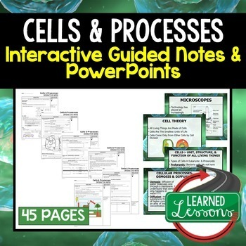 Life Science Guided Notes & PowerPoints NGSS BUNDLE Google