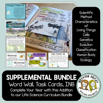 Life Science Interactive Notebook Complete Bundle