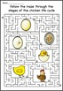 Biology & Life Science Life Cycles Fun Mazes!
