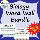 Life Science Biology Vocabulary Card Word Wall Mega Bundle