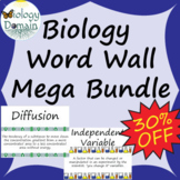 Life Science Biology Vocabulary Card Word Wall Mega Bundle