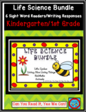 Life Science Bundle: 6 Emergent Reader Sight Word Books/Writing Response Sheets