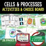 Cells Activities, Cells Choice Board, Digital Distance Lea