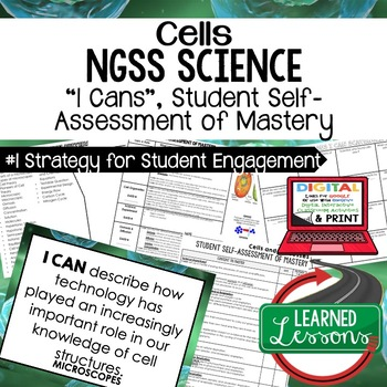 Life Science Cells & Processes Student Self Assessment of Mastery I Cans