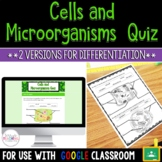 Life Science: Cells and Microorganisms Differentiated Quiz Bundle