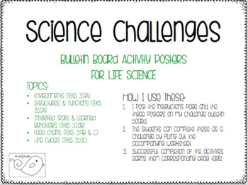 Life Science Challenges Bulletin Board Set