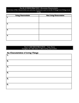 Life Science: Characteristics & Structures of Life: Living or Non Living?