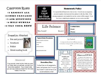 Life Science Class Syllabus