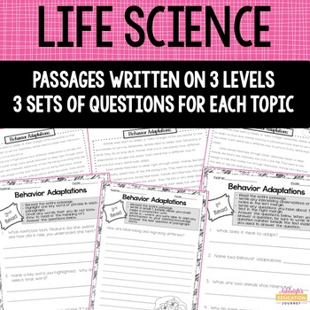 Life Science Close Reading