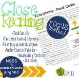 Life Science Close Reading Ecosystem: Food Chain Evidence