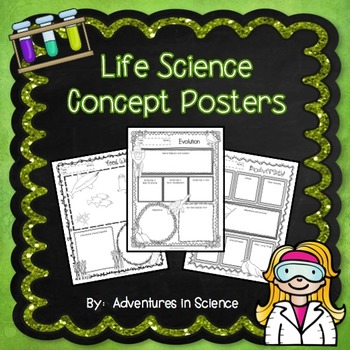 Life Science Concept Posters