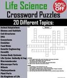 Life Science Crossword Puzzles Bundle: Ecosystems, Cells, Animal Adaptations etc