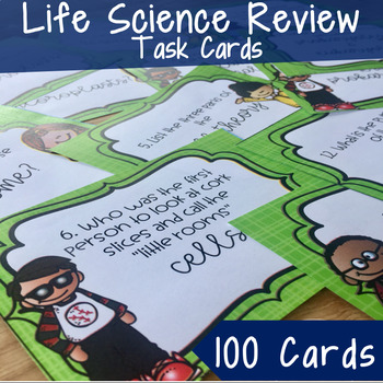 Life Science Cumulative Review Task Cards